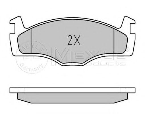 Комплект тормозных колодок, дисковый тормоз MEYLE арт. 0252088719