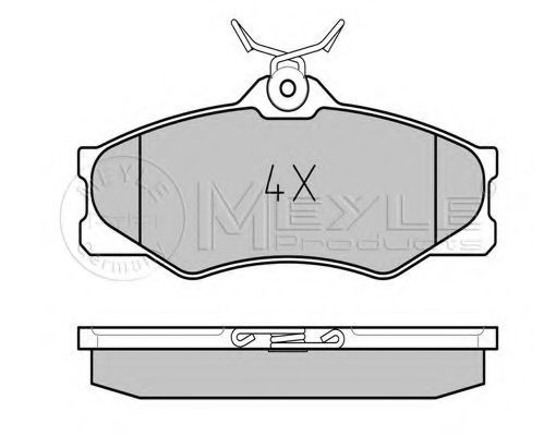 Комплект тормозных колодок, дисковый тормоз MEYLE арт. 0252097919