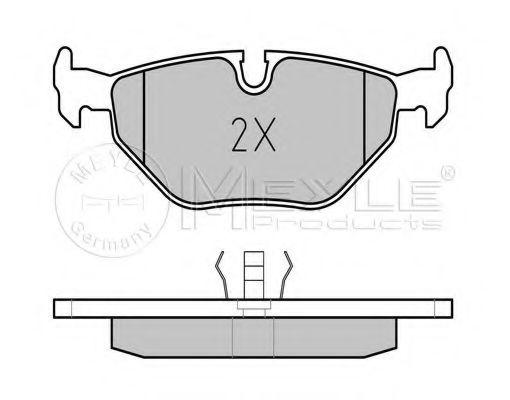 Комплект тормозных колодок, дисковый тормоз MEYLE арт. 0252099517