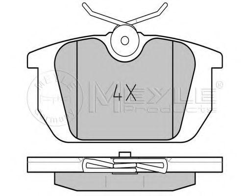 Комплект тормозных колодок, дисковый тормоз MEYLE арт. 0252110314