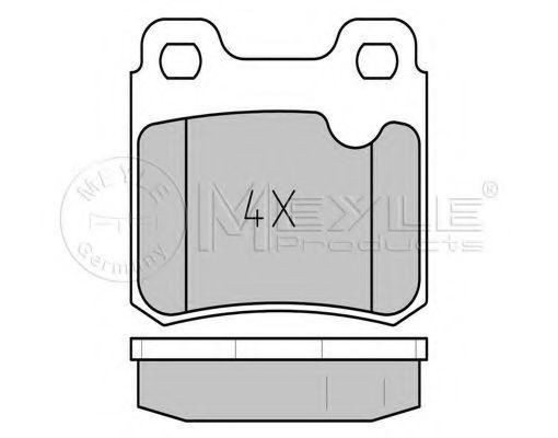 Комплект тормозных колодок, дисковый тормоз MEYLE арт. 0252114015