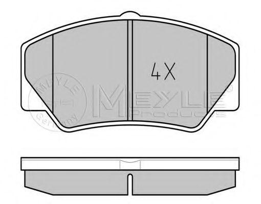 Комплект тормозных колодок, дисковый тормоз MEYLE арт. 0252114117