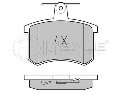 Комплект тормозных колодок, дисковый тормоз MEYLE арт. 0252114416
