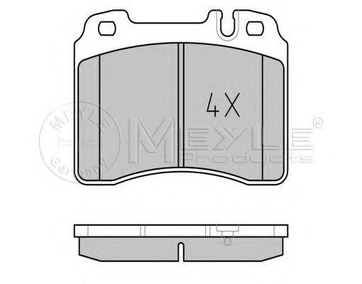 Комплект тормозных колодок, дисковый тормоз MEYLE арт. 0252115317