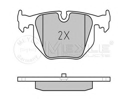 Комплект тормозных колодок, дисковый тормоз MEYLE арт. 0252148717
