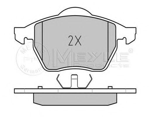Комплект тормозных колодок, дисковый тормоз MEYLE арт.