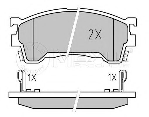 Комплект тормозных колодок, дисковый тормоз MEYLE арт. 0252175416W