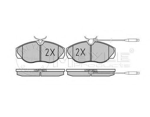 Комплект тормозных колодок, дисковый тормоз MEYLE арт. 0252179719W