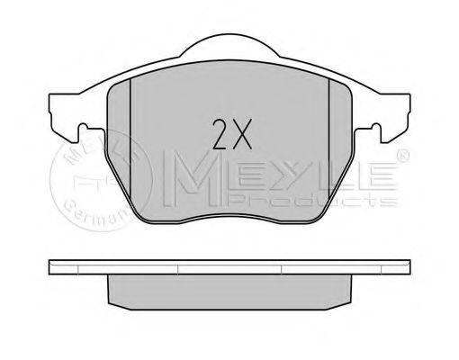 Комплект тормозных колодок, дисковый тормоз MEYLE арт. 0252184819