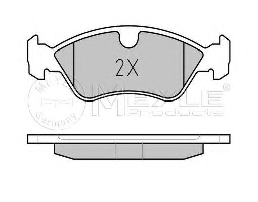 Комплект тормозных колодок, дисковый тормоз MEYLE арт. 0252186217