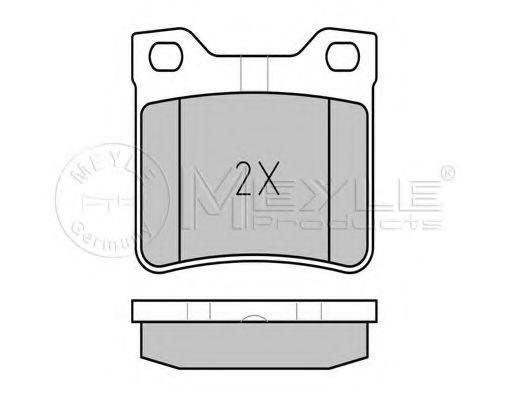 Комплект тормозных колодок, дисковый тормоз MEYLE арт. 0252190417W