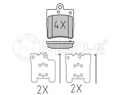Комплект тормозных колодок, дисковый тормоз MEYLE арт. 0252191915