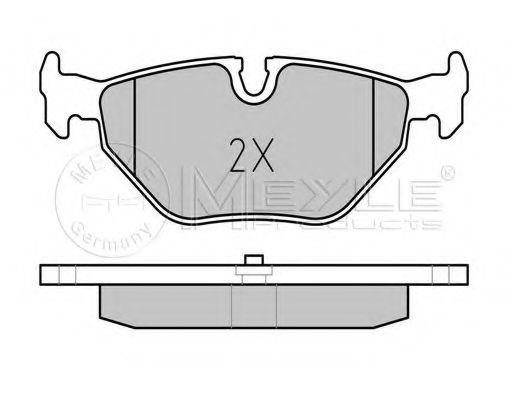 Комплект тормозных колодок, дисковый тормоз MEYLE арт. 0252193417
