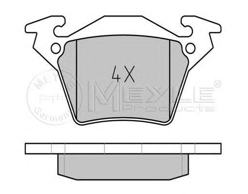 Комплект тормозных колодок, дисковый тормоз MEYLE арт. 0252302017