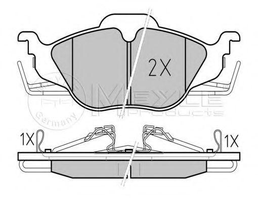 Комплект тормозных колодок, дисковый тормоз MEYLE арт. 0252306317W