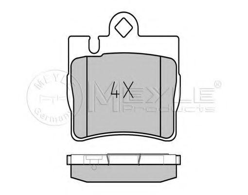 Комплект тормозных колодок, дисковый тормоз MEYLE арт. 0252307815