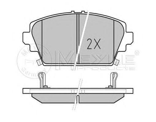 Комплект тормозных колодок, дисковый тормоз MEYLE арт. 0252309416W