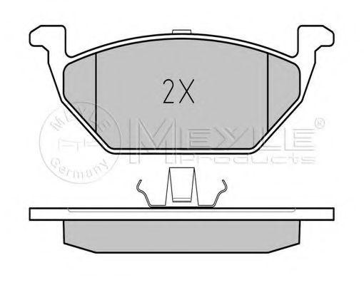 Комплект тормозных колодок, дисковый тормоз MEYLE арт. 0252313019A
