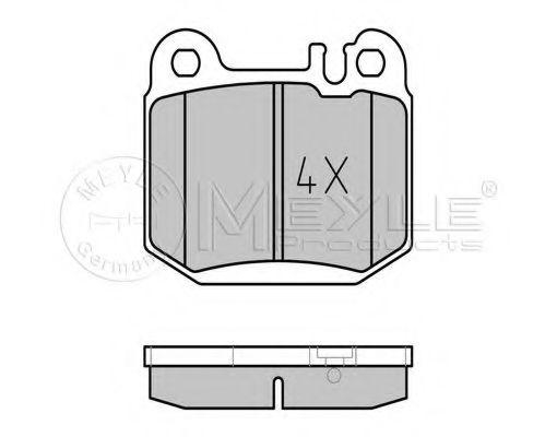Комплект тормозных колодок, дисковый тормоз MEYLE арт. 0252315716
