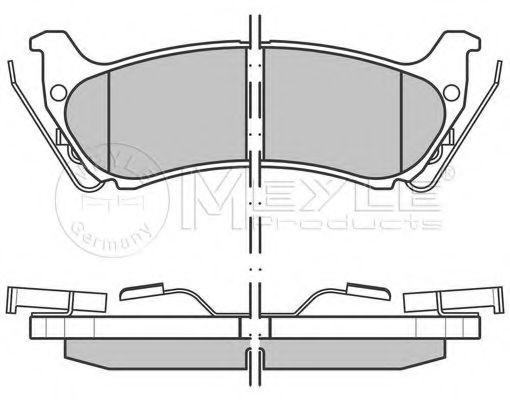 Комплект тормозных колодок, дисковый тормоз MEYLE арт. 0252319017W