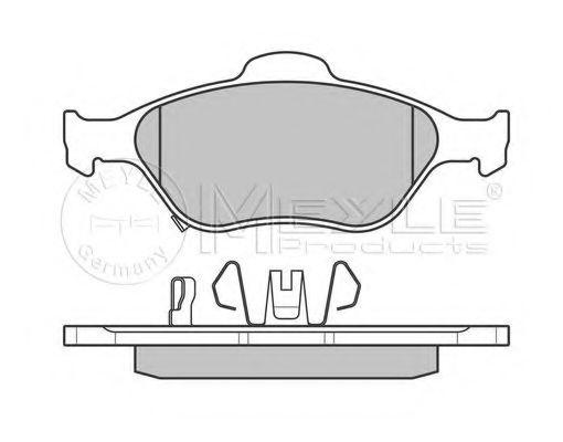 Комплект тормозных колодок, дисковый тормоз MEYLE арт. 0252320217W