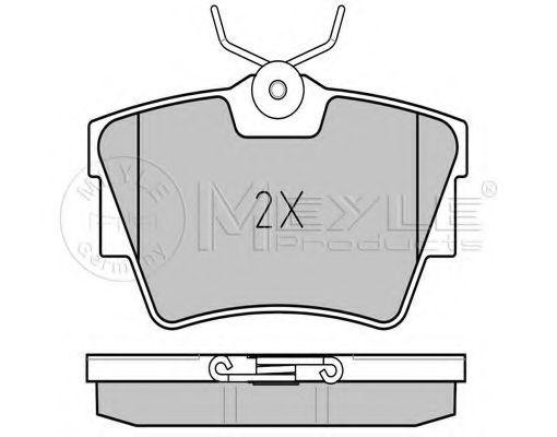 Комплект тормозных колодок, дисковый тормоз MEYLE арт. 0252322416W
