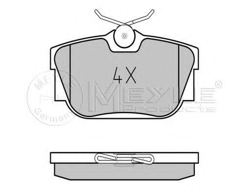 Комплект тормозных колодок, дисковый тормоз MEYLE арт. 0252322417W
