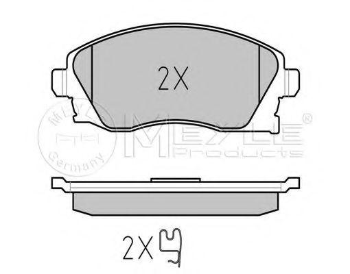 Комплект тормозных колодок, дисковый тормоз MEYLE арт. 0252322517