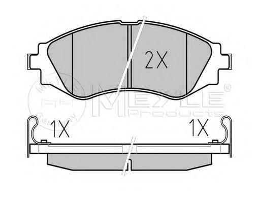 Комплект тормозных колодок, дисковый тормоз MEYLE арт. 0252323417W