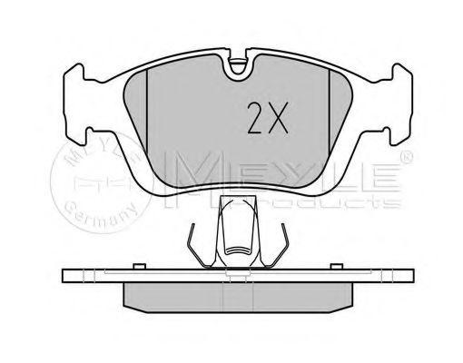 Комплект тормозных колодок, дисковый тормоз MEYLE арт. 0252328717