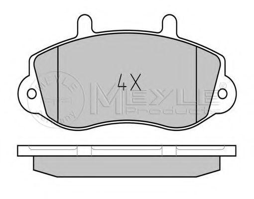 Комплект тормозных колодок, дисковый тормоз MEYLE арт. 0252330218