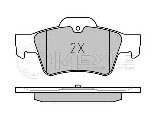 Комплект тормозных колодок, дисковый тормоз MEYLE арт. 0252333416