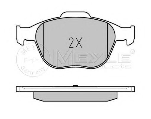 Комплект тормозных колодок, дисковый тормоз MEYLE арт. 0252344017