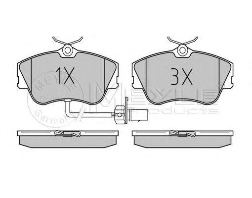 Комплект тормозных колодок, дисковый тормоз MEYLE арт. 0252344519W