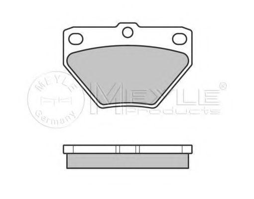 Комплект тормозных колодок, дисковый тормоз MEYLE арт. 0252352114W