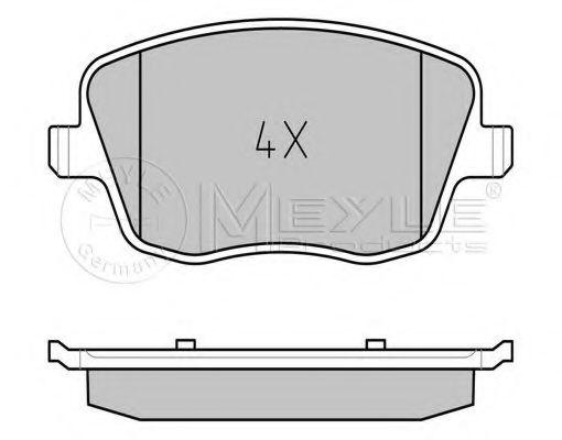 Комплект тормозных колодок, дисковый тормоз MEYLE арт. 0252358118