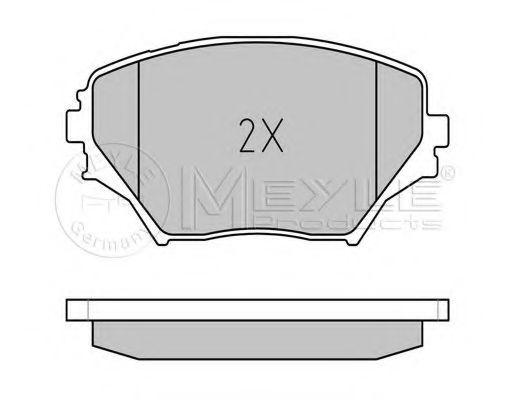 Комплект тормозных колодок, дисковый тормоз MEYLE арт. 0252358517
