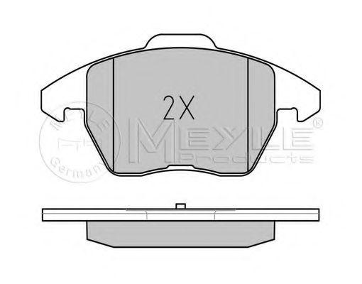 Комплект тормозных колодок, дисковый тормоз MEYLE арт. 0252358720W