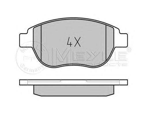 Комплект тормозных колодок, дисковый тормоз MEYLE арт. 0252360019