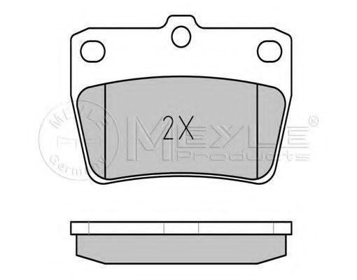 Комплект тормозных колодок, дисковый тормоз MEYLE арт. 0252365614W