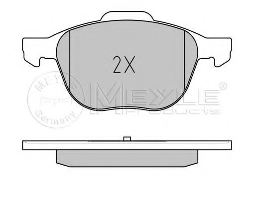 Комплект тормозных колодок, дисковый тормоз MEYLE арт. 0252372318