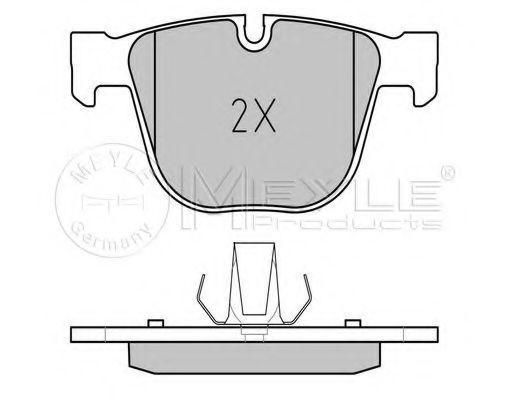 Комплект тормозных колодок, дисковый тормоз MEYLE арт. 0252373017