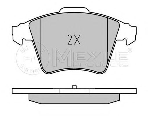 Комплект тормозных колодок, дисковый тормоз MEYLE арт. 0252374619W