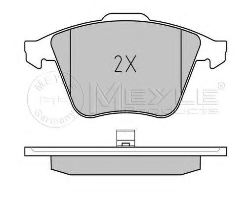 Комплект тормозных колодок, дисковый тормоз MEYLE арт. 0252376220W