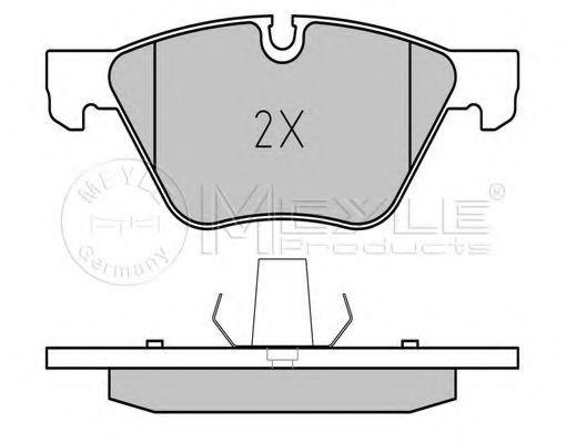 Комплект тормозных колодок, дисковый тормоз MEYLE арт. 0252379420
