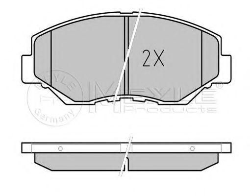 Комплект тормозных колодок, дисковый тормоз MEYLE арт. 0252386817