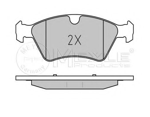 Комплект тормозных колодок, дисковый тормоз MEYLE арт. 0252392221