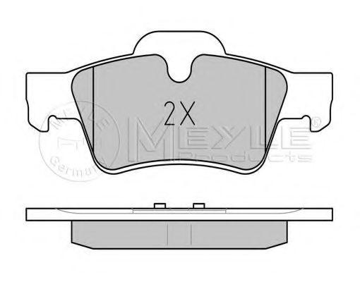Комплект тормозных колодок, дисковый тормоз MEYLE арт. 0252392318