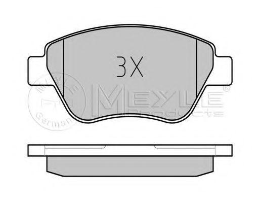 Комплект тормозных колодок, дисковый тормоз MEYLE арт. 0252398217W