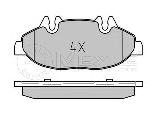 Комплект тормозных колодок, дисковый тормоз MEYLE арт. 0252400720